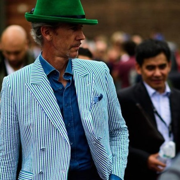 Pitti uomo 2018 : theme of lines